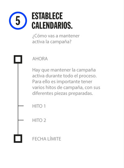 Kit decide 5: Establece calendarios