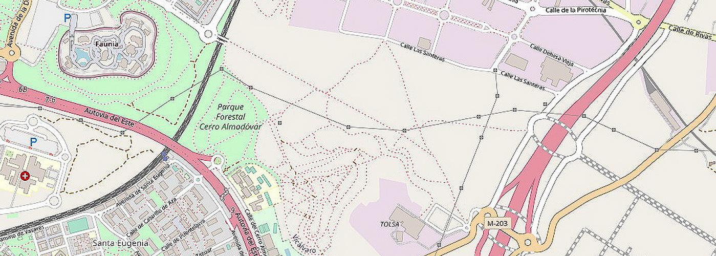 Cerro Almodóvar en OpenStreetMap